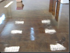 Stained Concrete floor with Cafe Moche