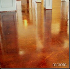 Stained concrete  living room
