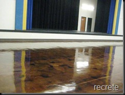 Stained Concrete on School Multipurpose Room