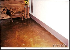 Stained Concrete floor with Cola