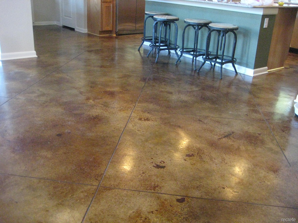 Concrete Stained Home With Warm Walnut