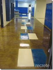 Beckville HS Stained Floors