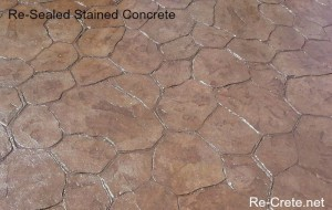 Re-Sealed Stamped Concrete