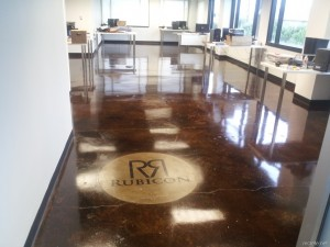 Logos with concrete stain