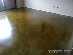 Concrete Stained Garage