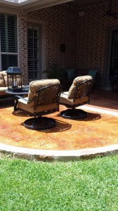 Concrete Stained Patio 1