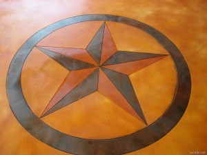 Stained Concrete Texas Star