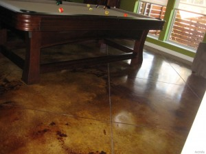 Stained Concrete Man Cave