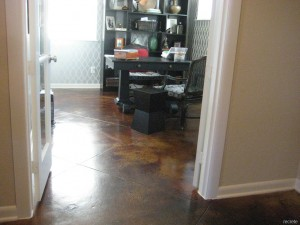 Stained Concrete Home Office