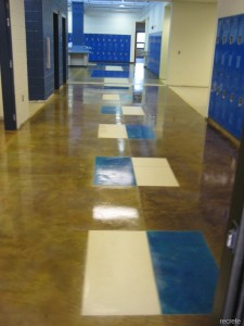 Scored and Stained Concrete