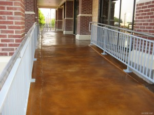 Stained Concrete Ramp