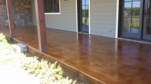 Concrete Stained Patio