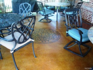 Stained Medallion Patio