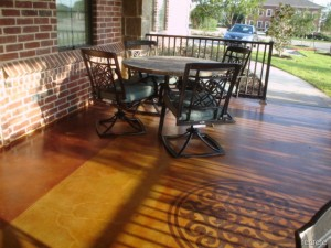 Stained Concrete Medallion Patio