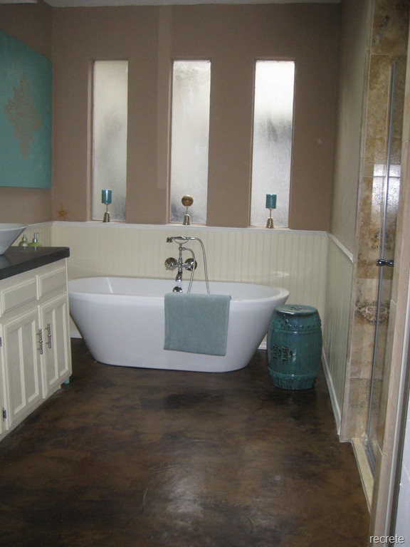 stained concrete bathroom floor matte sealed concrete stained floor 20638